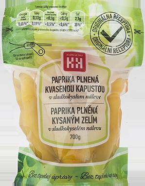Mit Sauerkraut gefüllter Paprika