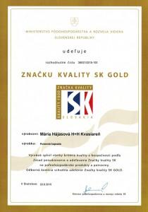 kvality SK GOLD